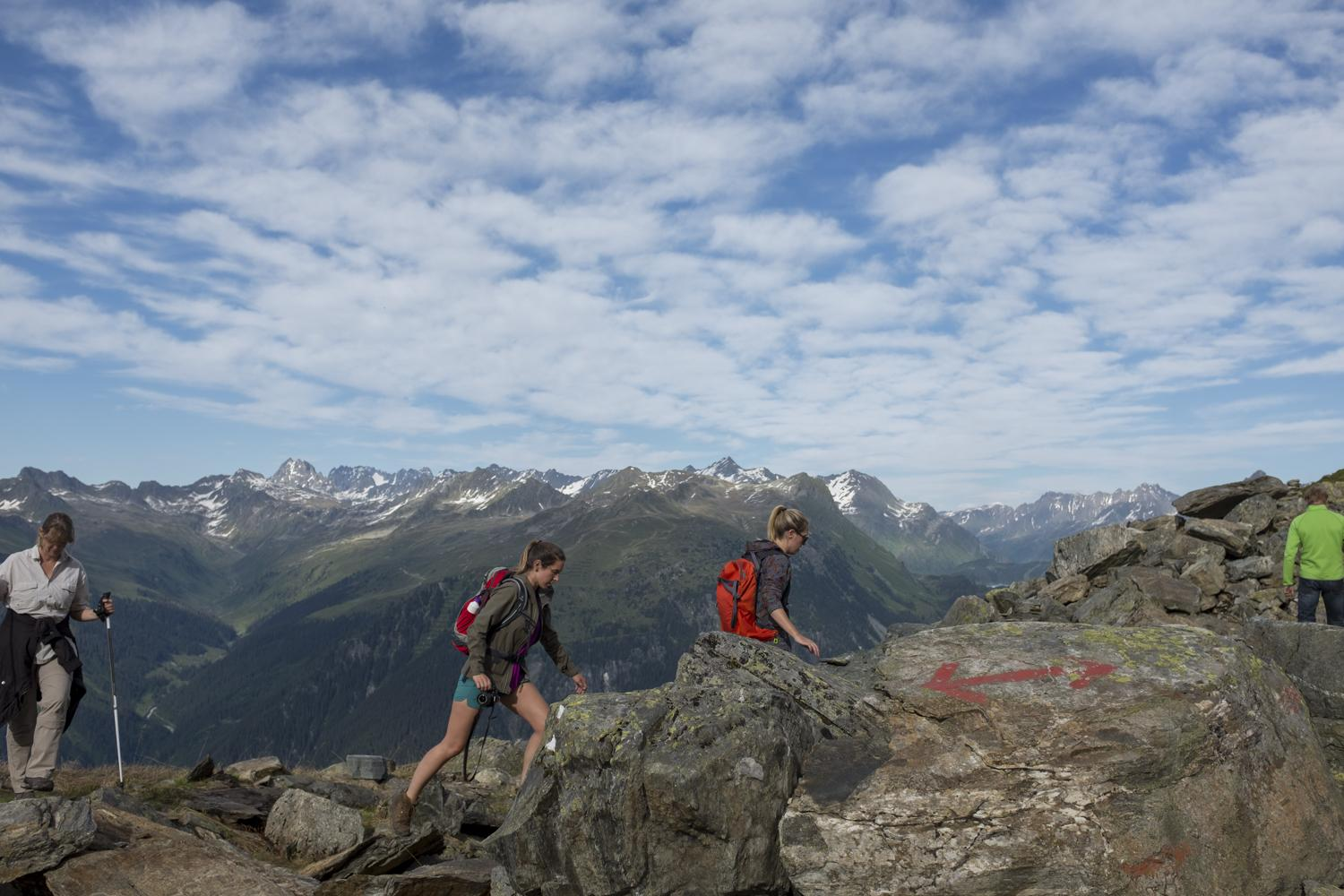 Kamperen op 2200 meter hoogte in het Montafongebergte, Oostenrijk.