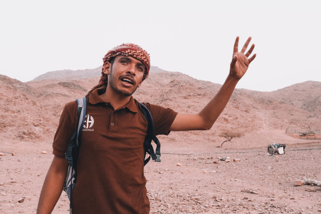 Gids bij de Feynan Ecolodge, Jordanië