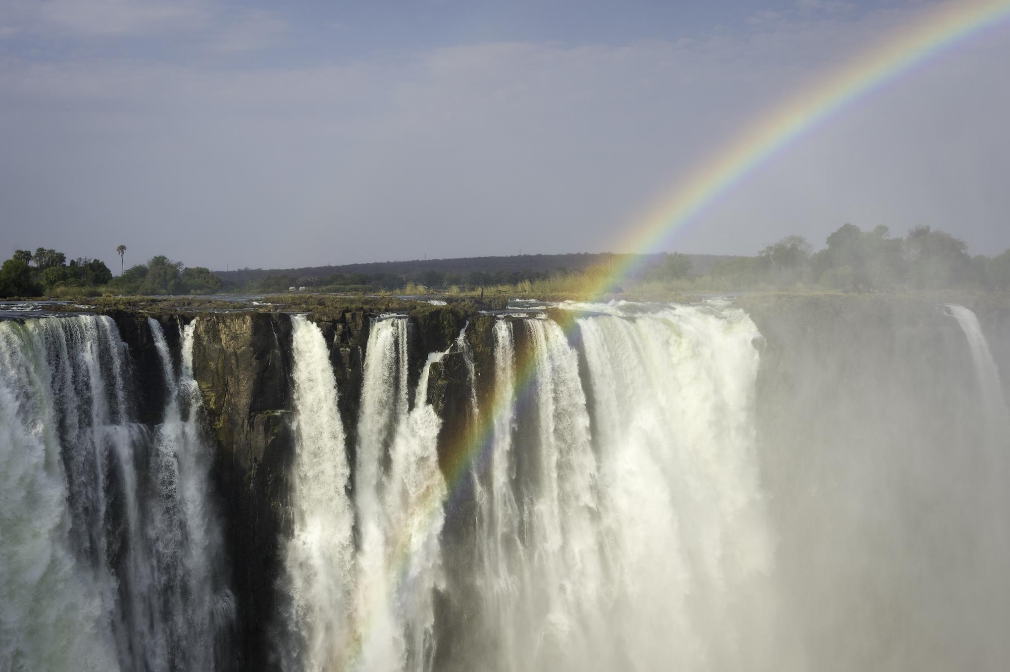 De Victoriawatervallen liggen op slechts 12 kilometer afstand van de ecolodge Toka Leya